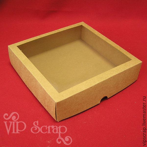 """Упаковка ручной работы. Ярмарка Мастеров - ручная работа. Купить Коробка с окном из крафт-картона """"крышка-дно"""". Handmade. Упаковка"""