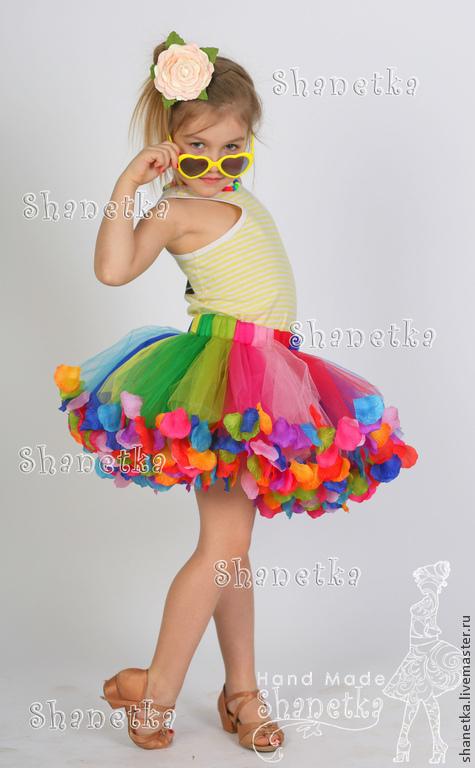 Одежда для девочек, ручной работы. Ярмарка Мастеров - ручная работа. Купить Юбка-пачка из фатина для девочки Масленица. Handmade. Разноцветный