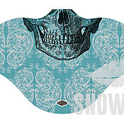 Одежда ручной работы. Ярмарка Мастеров - ручная работа Ветрозащитная маска Blue skull 2. Handmade.
