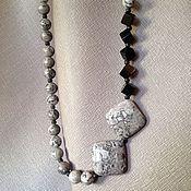 Украшения handmade. Livemaster - original item Necklace Cubes and squares of Jasper and agate. Handmade.