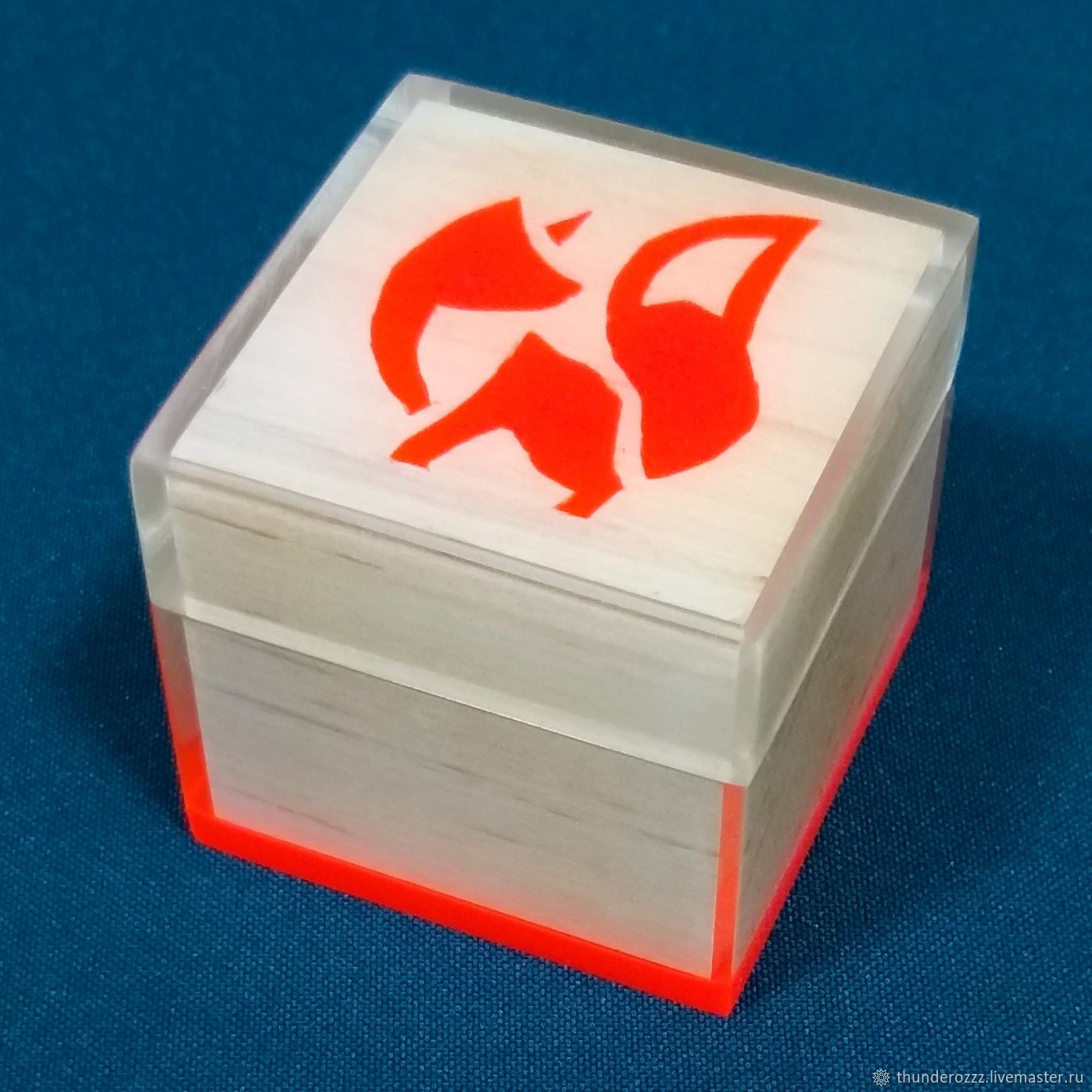 Box made of beech Fox, Box, Vologda,  Фото №1