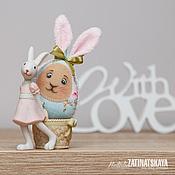 Подарки к праздникам ручной работы. Ярмарка Мастеров - ручная работа Веселые пасхальные зайчата, текстильные яйца. Handmade.