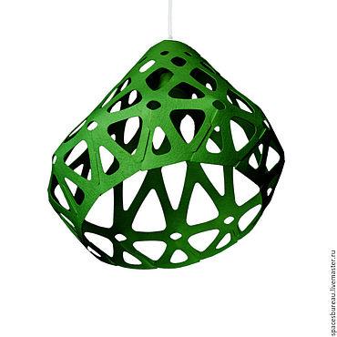 Для дома и интерьера ручной работы. Ярмарка Мастеров - ручная работа ZAHA LIGHT темно-зеленый потолочный подвесной светильник.. Handmade.