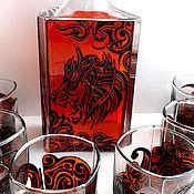 Для дома и интерьера ручной работы. Ярмарка Мастеров - ручная работа Набор для виски «Лев». Handmade.