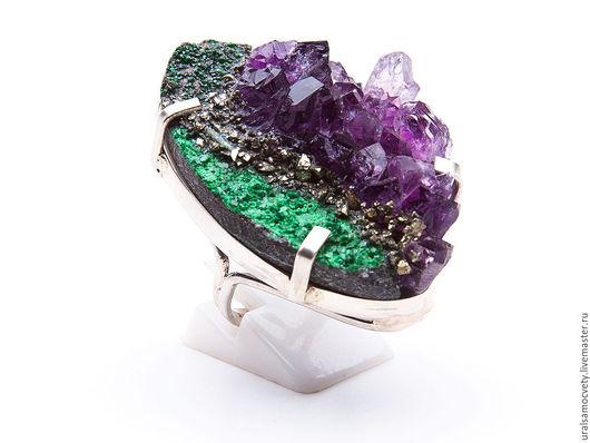 Кольца ручной работы. Ярмарка Мастеров - ручная работа. Купить Серебряное кольцо с натуральными камнями. Handmade. Из натуральных камней