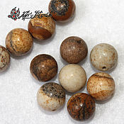 Материалы для творчества handmade. Livemaster - original item Landscape Jasper 10mm smooth beads (natural stone). Handmade.