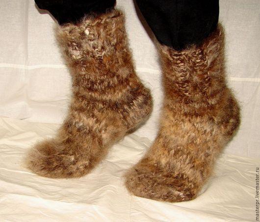 Носки мужские  пуховые толстые артикул №37м из собачьего пуха . Ручное прядение .Ручное вязание. Очень толстые носки .Полный эксклюзив. ЦЕНА  : 5900рублей