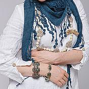 Одежда ручной работы. Ярмарка Мастеров - ручная работа Бохо платье 4-4 Белый. Handmade.