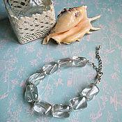 Украшения handmade. Livemaster - original item Transparent ice bracelet. Handmade.