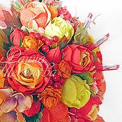 """Цветы и флористика ручной работы. Ярмарка Мастеров - ручная работа Букет из конфет """"Огненная осень"""". Handmade."""