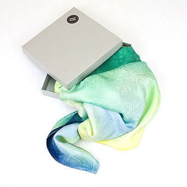 Accessories handmade. Livemaster - original item Green stole