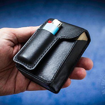 купить кожаный портсигар для сигарет в москве
