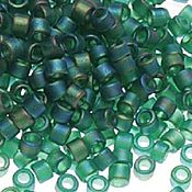 Материалы для творчества handmade. Livemaster - original item 5 grams Delica 11/0 DB859 Matte Emerald Ab Japanese bead Delica Miyuki. Handmade.