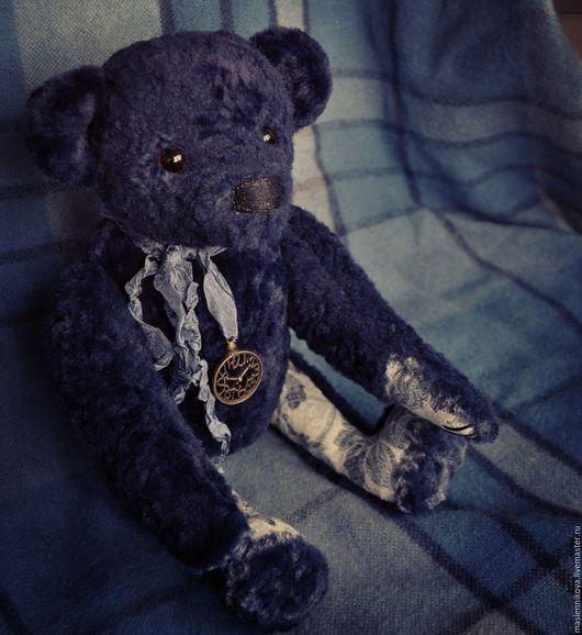 Мишки Тедди ручной работы. Ярмарка Мастеров - ручная работа. Купить Медведь Барни (32см). Handmade. Тёмно-синий