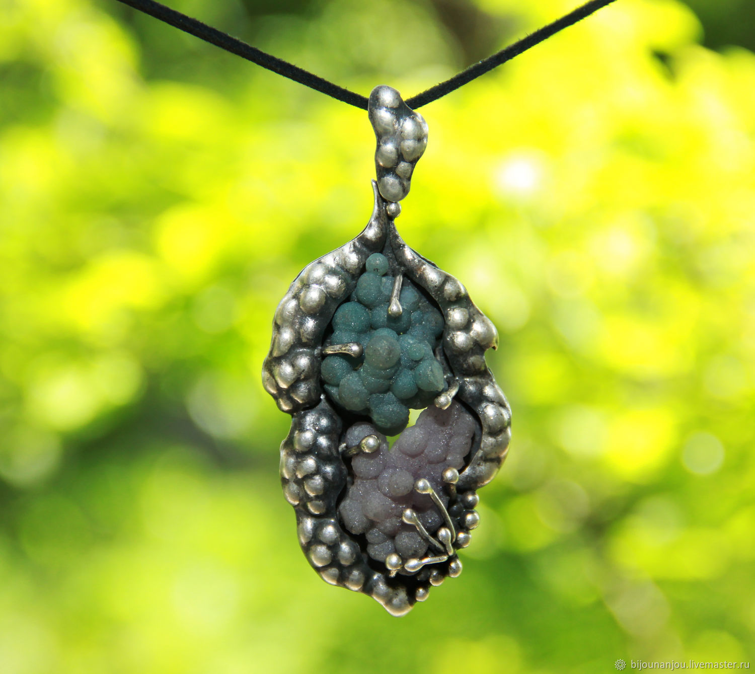 Pendant with natural Indonesia agate of silver 925 sample, Pendants, Yerevan,  Фото №1