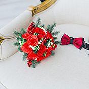 Свадебный салон ручной работы. Ярмарка Мастеров - ручная работа Букет невесты из полимерной глины  Зима. Handmade.