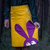 Одежда ручной работы. Ярмарка Мастеров - ручная работа Фиолетовый воришка - юбка с аппликацией. Handmade.