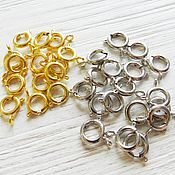 Accessories for jewelry handmade. Livemaster - original item Round clasps for beads and necklaces of gold. platinum (Ref. 1372). Handmade.