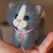 Куклы и игрушки ручной работы. Ярмарка Мастеров - ручная работа Валяная игрушка котенок Феликс. Handmade.