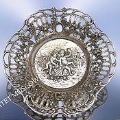 Винтаж ручной работы. Ярмарка Мастеров - ручная работа Ваза тарелка подставка серебро 835 45гр 9. Handmade.