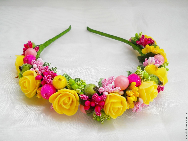 Как сделать себе ободок с цветами