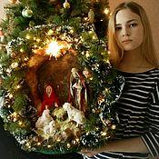 Кукольные домики ручной работы. Ярмарка Мастеров - ручная работа Вертеп Рождество малый В-12. Handmade.