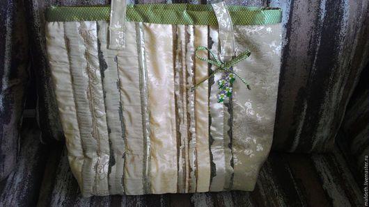 Женские сумки ручной работы. Ярмарка Мастеров - ручная работа. Купить Текстильная стеганая сумка. Handmade. В полоску