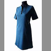 Одежда ручной работы. Ярмарка Мастеров - ручная работа Платье офисное из тонкой шерсти с вышивкой. Handmade.
