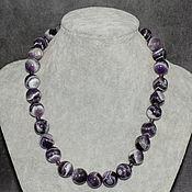 Украшения handmade. Livemaster - original item Natural Amethyst Madagascar Large Beads Silver Accessories. Handmade.
