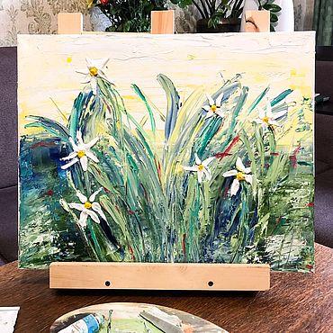 Картины и панно ручной работы. Ярмарка Мастеров - ручная работа «Утро в полях». Handmade.