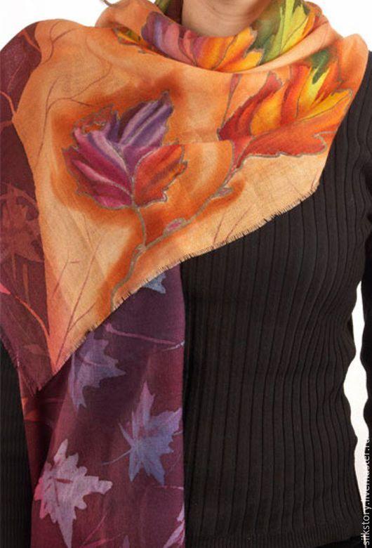 Шарфы и шарфики ручной работы. Ярмарка Мастеров - ручная работа. Купить шарф Краски осени. Handmade. Купить подарок