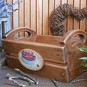 """Для дома и интерьера ручной работы. Ярмарка Мастеров - ручная работа Короб для фруктов """"Вишнёвый сад"""". Handmade."""