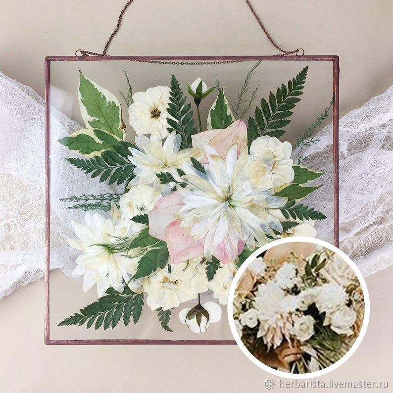 Interior herbarium from your wedding bouquet, Gifts, Moscow,  Фото №1