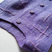 """Одежда ручной работы. Ярмарка Мастеров - ручная работа Валяный жилет """"Сиреневый"""". Handmade."""