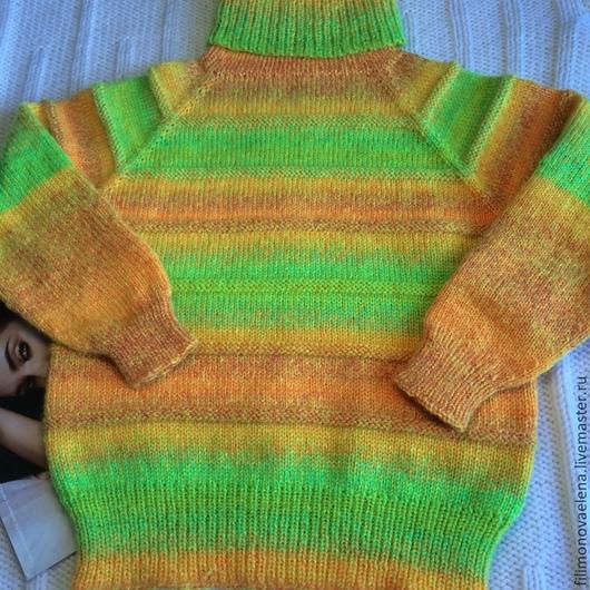 """Одежда для девочек, ручной работы. Ярмарка Мастеров - ручная работа. Купить Свитер """"Попугайчик"""". Handmade. Разноцветный, радуга, детский свитер"""