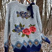 """Одежда ручной работы. Ярмарка Мастеров - ручная работа Джемпер """"Цветы"""". Handmade."""