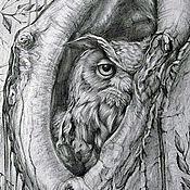 Картины и панно handmade. Livemaster - original item The Picture Of The Owl. Handmade.