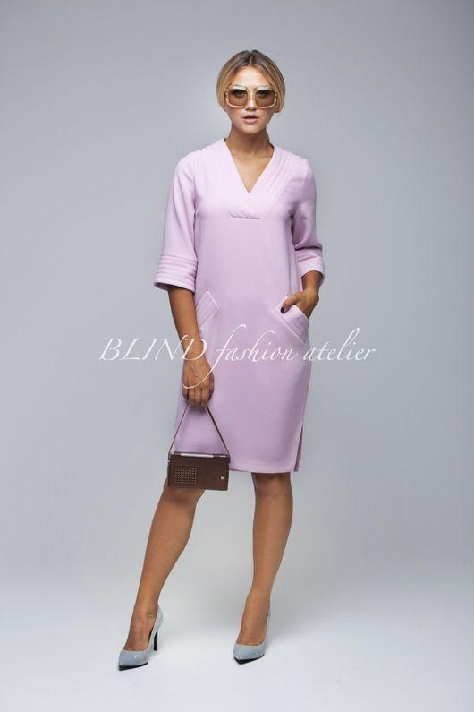 Платья ручной работы. Ярмарка Мастеров - ручная работа. Купить Платье 00270. Handmade. Бледно-розовый, креп