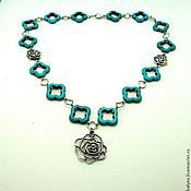 "Украшения handmade. Livemaster - original item Necklace with turquoise ""Silla"". Handmade."