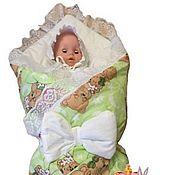 Работы для детей, ручной работы. Ярмарка Мастеров - ручная работа Конверт одеяло для новорожденного.. Handmade.