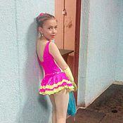 Работы для детей, ручной работы. Ярмарка Мастеров - ручная работа Платье для выступлений (фигурное катание). Handmade.