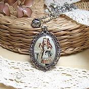 Pendants handmade. Livemaster - original item Vintage Pendant Retro Alice in Wonderland. Handmade.