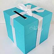 Свадебный салон ручной работы. Ярмарка Мастеров - ручная работа Свадебная коробка-казна Тиффани. Handmade.