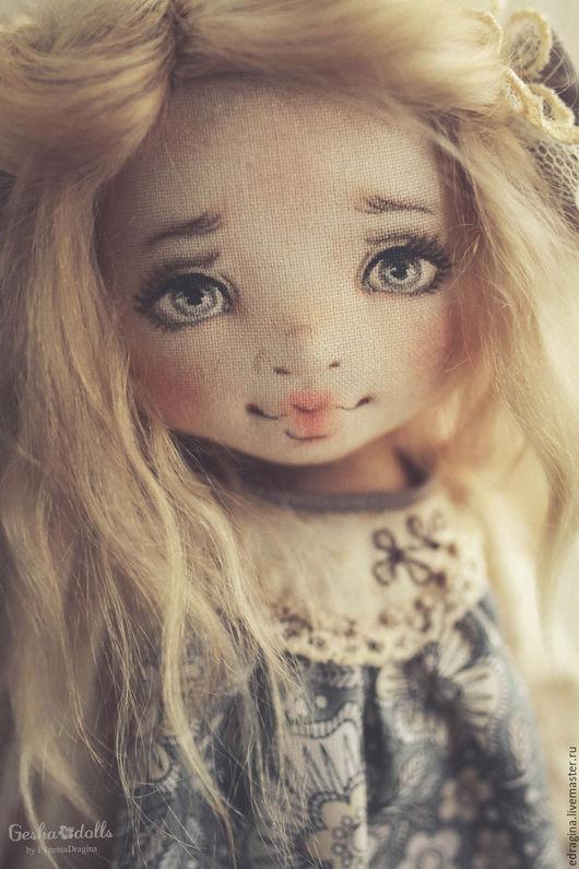 Коллекционные куклы ручной работы. Ярмарка Мастеров - ручная работа. Купить Алёнушка. Handmade. Серый, детство, мохер