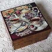 """Для дома и интерьера ручной работы. Ярмарка Мастеров - ручная работа Чайная шкатулка """"Время чая"""". Handmade."""