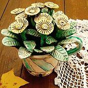 """Для дома и интерьера ручной работы. Ярмарка Мастеров - ручная работа """"Желтые первоцветы в чашке"""" Керамический букет. Handmade."""
