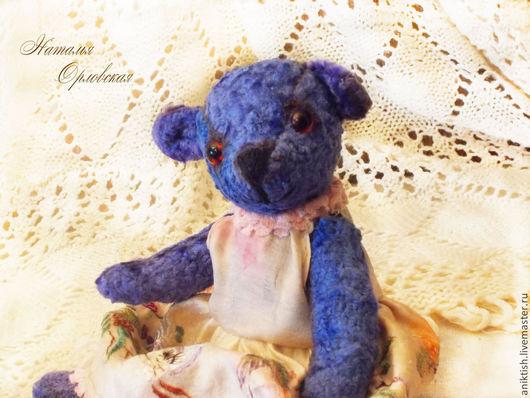 Мишки Тедди ручной работы. Ярмарка Мастеров - ручная работа. Купить Мишка-тедди Мэри и ее барашек. Handmade. Синий