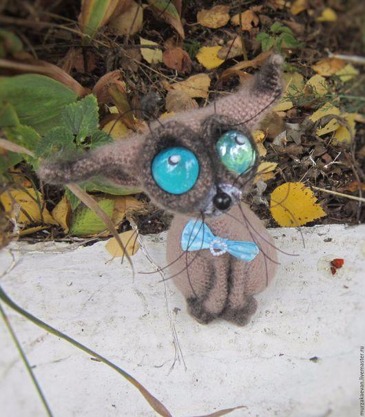 Игрушки животные, ручной работы. Ярмарка Мастеров - ручная работа. Купить Сиам (котейка породы Сиамской). Handmade. Комбинированный, глазастик