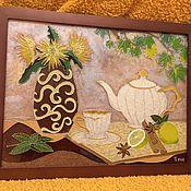 """Картины и панно ручной работы. Ярмарка Мастеров - ручная работа Натюрморт """"Чайная история"""". Handmade."""