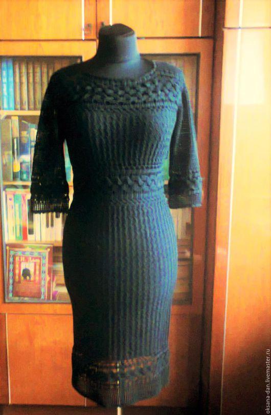 Платья ручной работы. Ярмарка Мастеров - ручная работа. Купить ПЛАТЬЕ ИЗЮМИНКА. Handmade. Черный, платье вечернее